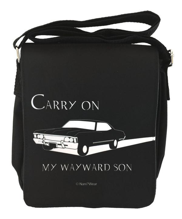 Supernatural Inspired Small Messenger Bag: Carry On Wayward Son