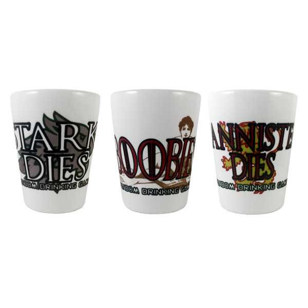 Game of Thrones Inspired Drinking Game Shot Glasses