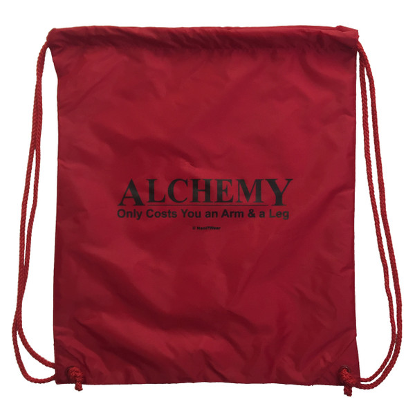 Fullmetal Alchemist Drawstring Backpack Alchemy Only Costs an Arm and a Leg