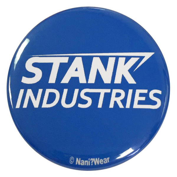 Captain America Civil War Inspired 2.25 Inch Tony Stark Parody Button Stank Industries
