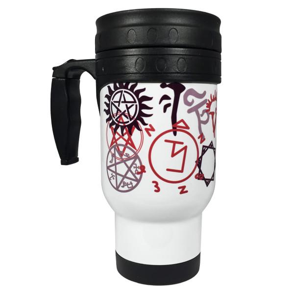 Supernatural Symbols 14oz Stainless Steel Travel Mug
