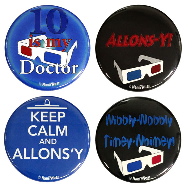 10th Doctor Who Button Set