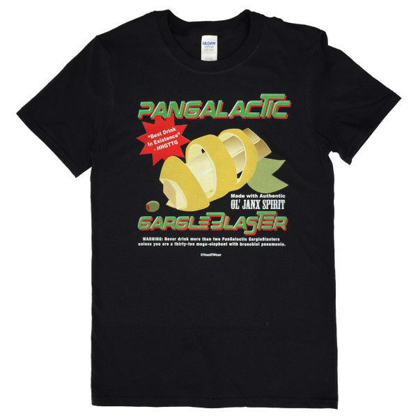 Hitchhikers Guide to the Galaxy Geek T-Shirt Pangalactic Gargle Blaster