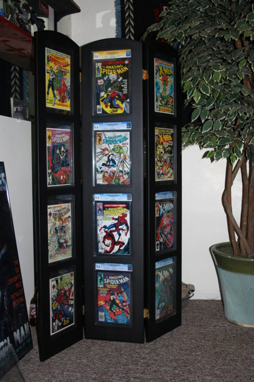 tri fold graded comic book display holds 12 graded comic books the collectors
