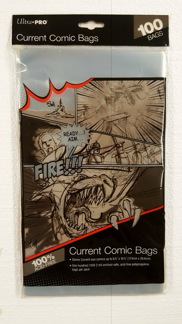 Ultra Pro Comic Book Sleeves, current size comic books. Pack of 100.   The Collectors Resource
