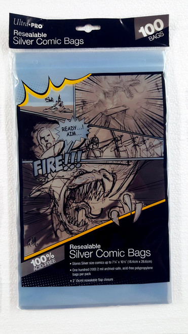Ultra Pro Resealable Comic Book Sleeves, Silver Age size comic books. Pack of 100.   The Collectors Resource
