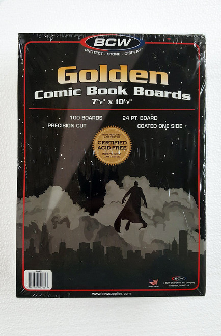 BCW Golden Age Comic Book Backer Boards & Comic Book Supplies - The Collectors Resource
