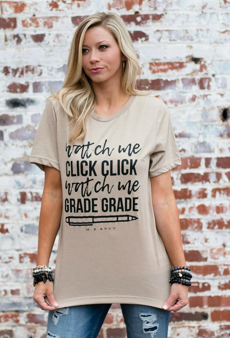 Watch Me Grade | Khaki Graphic Tee
