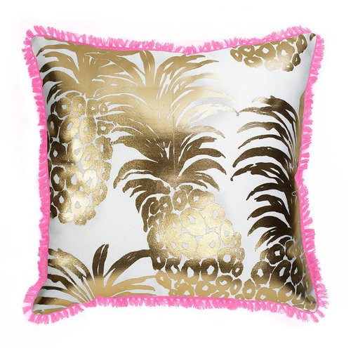 Lily Pulitzer | Large Indoor/Outdoor Pillow | Pink Pout Flamenco