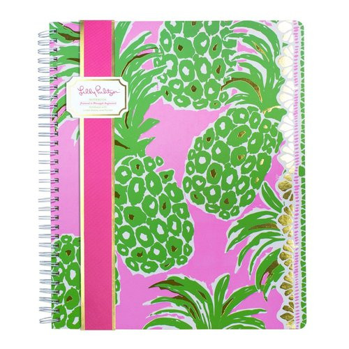Lilly Pulitzer | Large Notebook | Pink Pout Flamenco