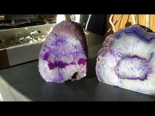 Nice ... Beautiful Purple Agate PoF Geode Lamp