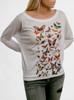 Bugs - Multicolor on White Women's Long Sleeve Dolman