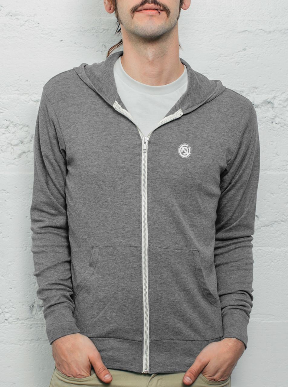 Grey Mens Light Hoodie Free Shipping