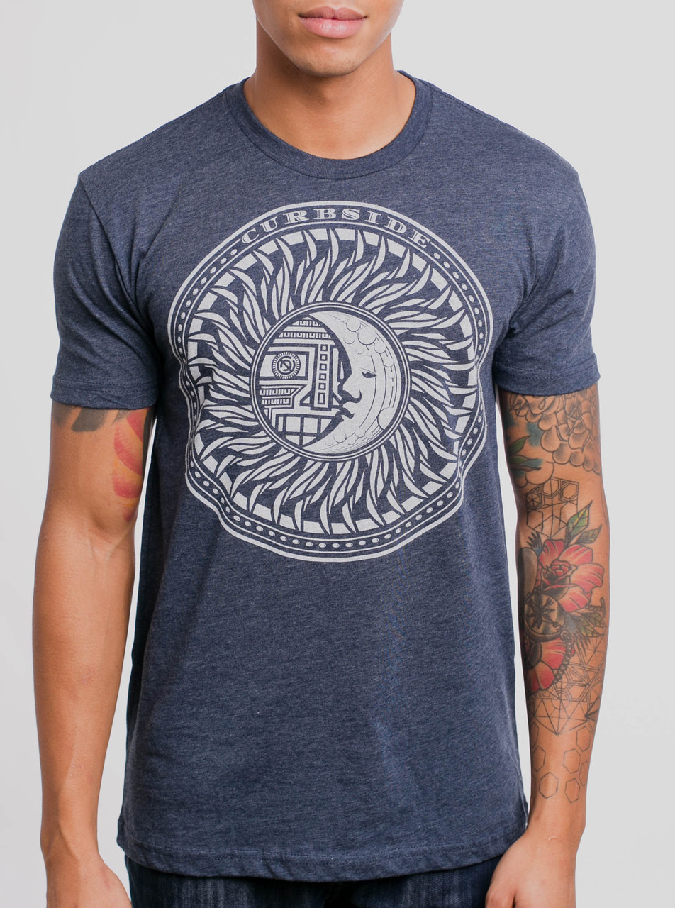 Eclipse White On Heather Navy Men S T Shirt Curbside