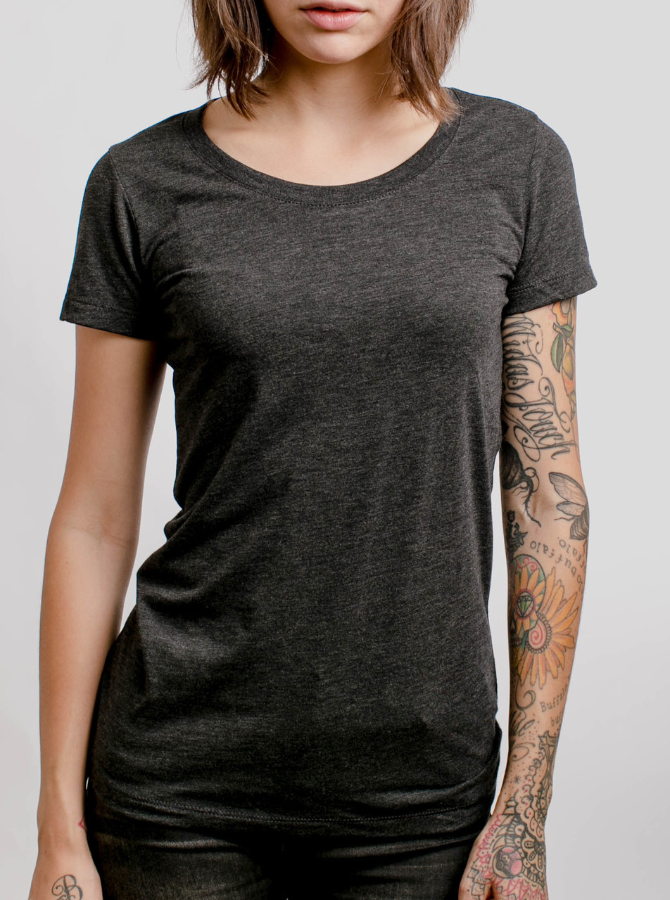 Charcoal Triblend Crew - Blank Women's T-Shirt - Curbside ...