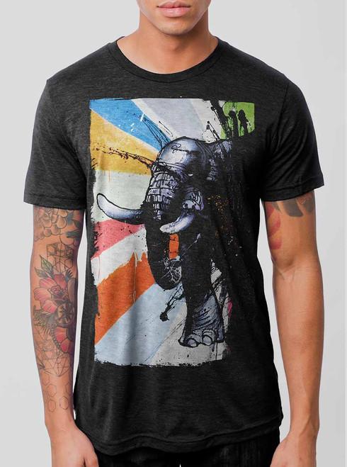 Awake - Multicolor on Heather Black Triblend Mens T Shirt