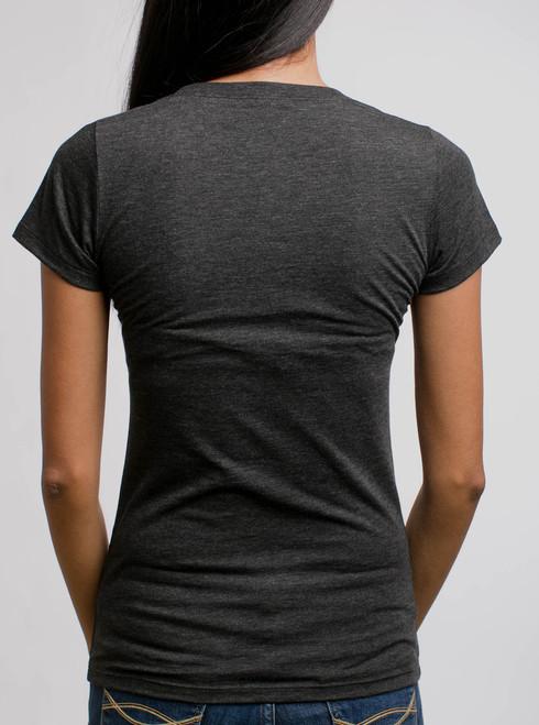 Kali Multicolor On Heather Black Triblend Womens T Shirt