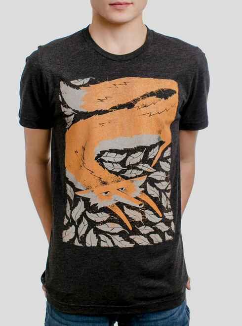 Fox in the Henhouse - Multicolor on Heather Black Triblend Mens T Shirt