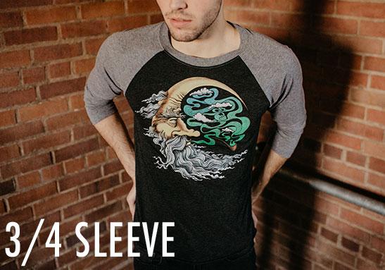 Men's 3/4 Sleeve Shirts - Raglans - Baseball Shirts