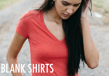 Womens Blank Shirts and Tops