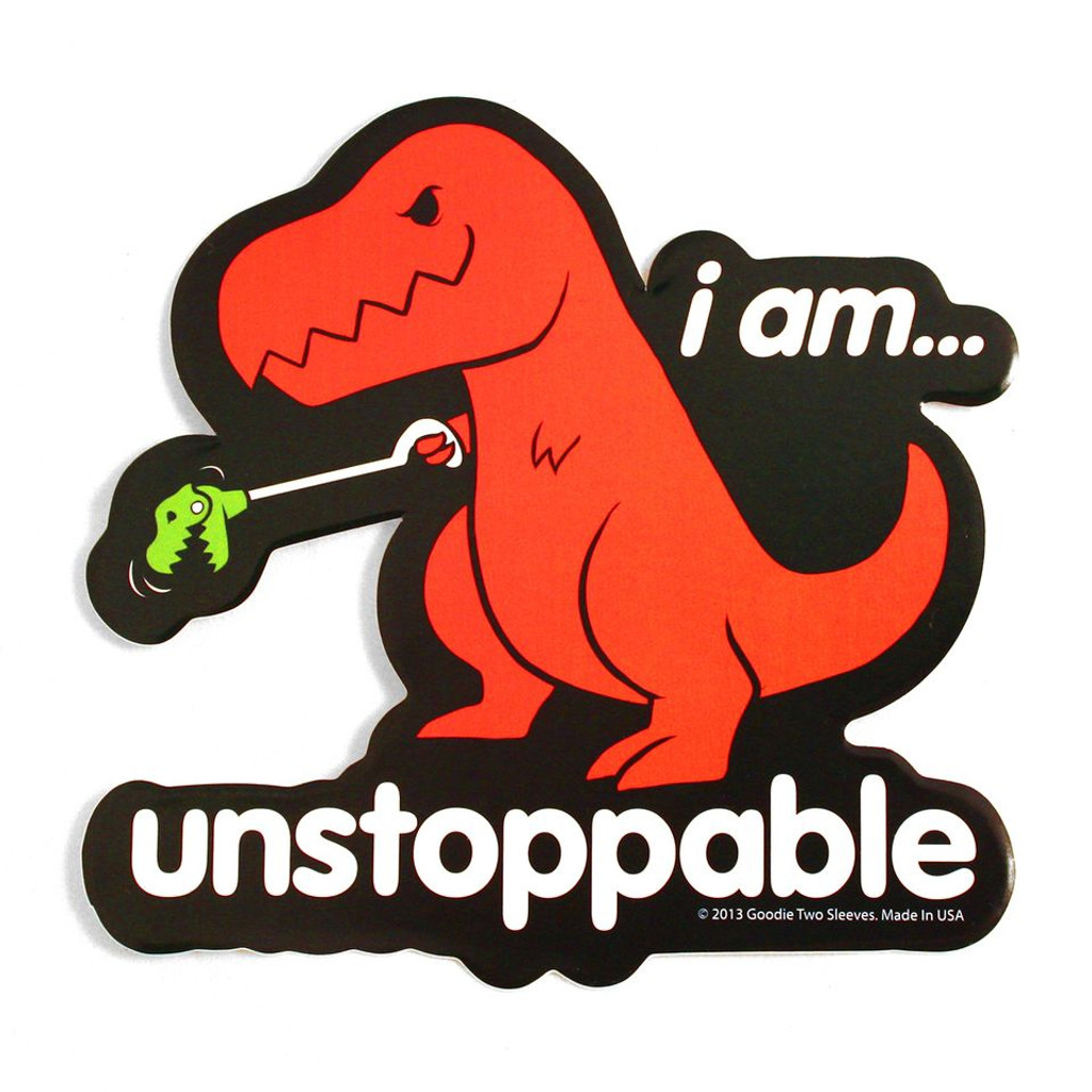 Sad T Rex Sticker Happy Clap Sticker Goodie Two Sleeves