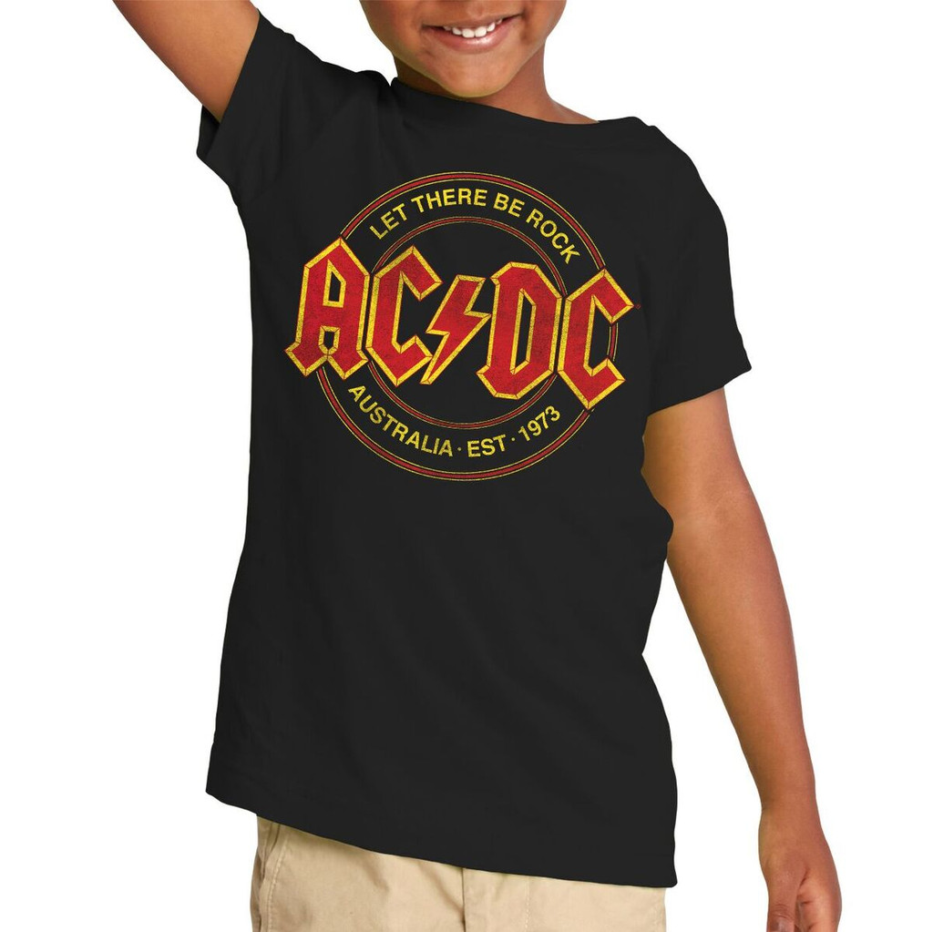acdc let there be rock toddler t shirt unisex tee acdc. Black Bedroom Furniture Sets. Home Design Ideas