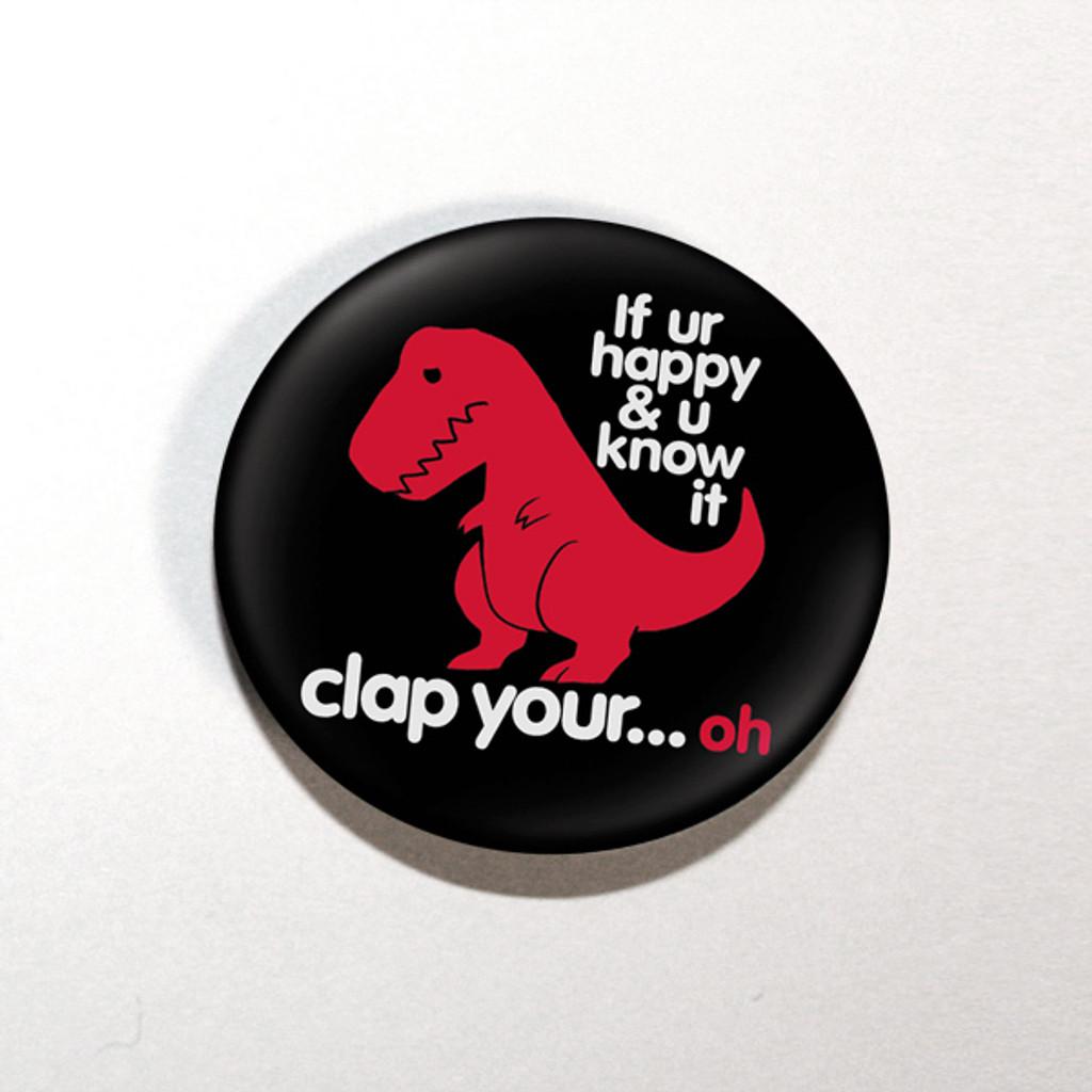 "Sad T-Rex Dino 1.25"" Button"
