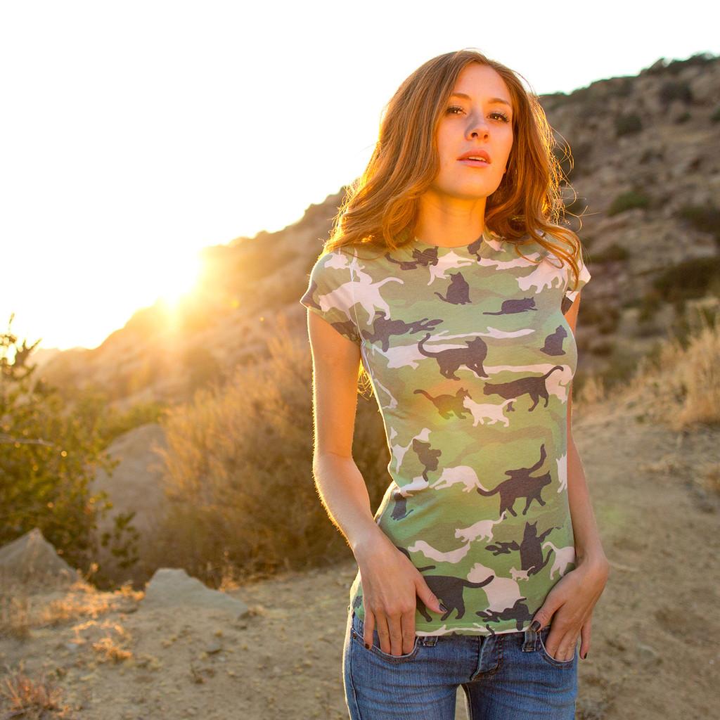 Catmouflage Women's Sublimated T-Shirt