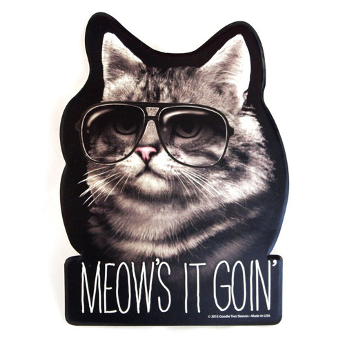 Meow's It Goin Sticker
