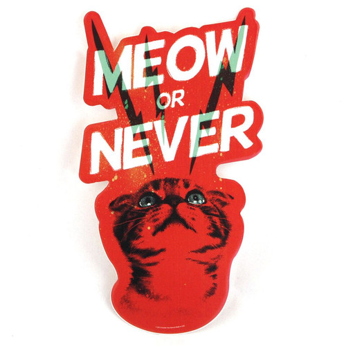 Meow or Never Cat Sticker