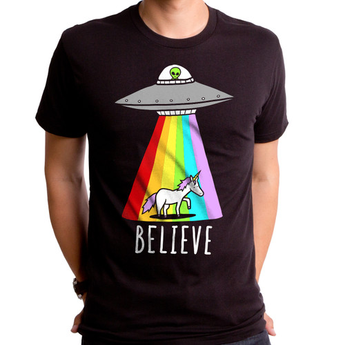 Believe Alien Men's T-Shirt