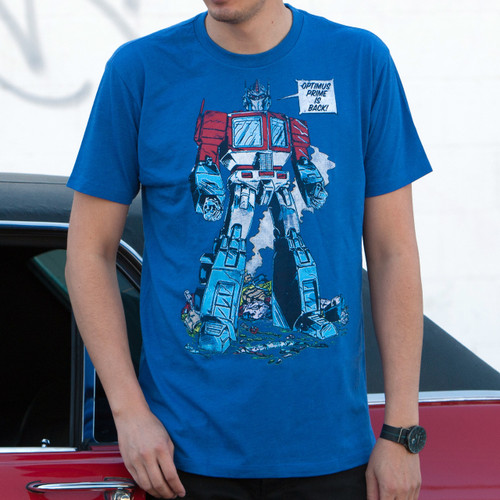 Transformers Optimus Prime Is Back Men's T-Shirt