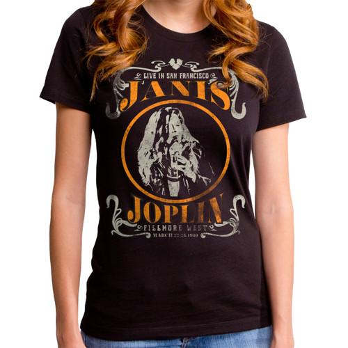 Janis Joplin Live Girls T-Shirt