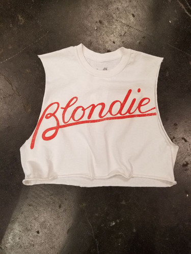 Blondie Logo Girls Crop Top