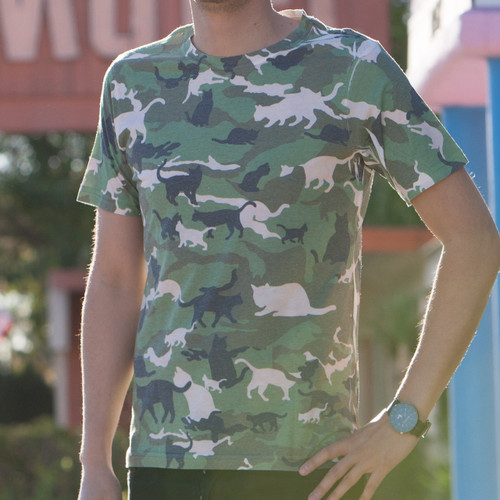 Catmouflage Cat Camo Men's Sublimated T-Shirt