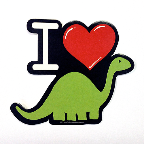 I Heart Dino Sticker