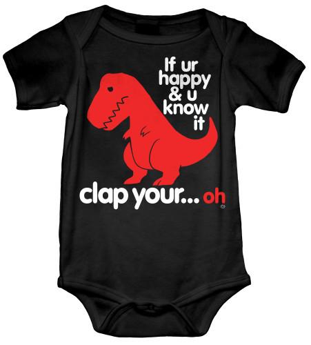 Sad T Rex Dino Baby Onesie