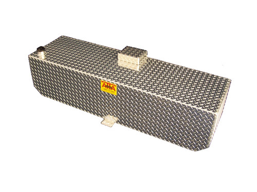AT68RBR, 68 Gallon Below Rail Auxiliary Fuel Tank designed for installation under a bed cover.  Made by: Aluminum Tank & Tank Accessories, Inc. Call us today for more details, 1-800-773-3047.