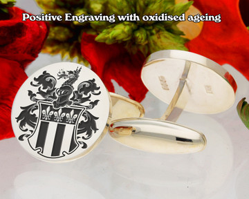Manuel (Swiss) Family Crest Cufflinks Positive