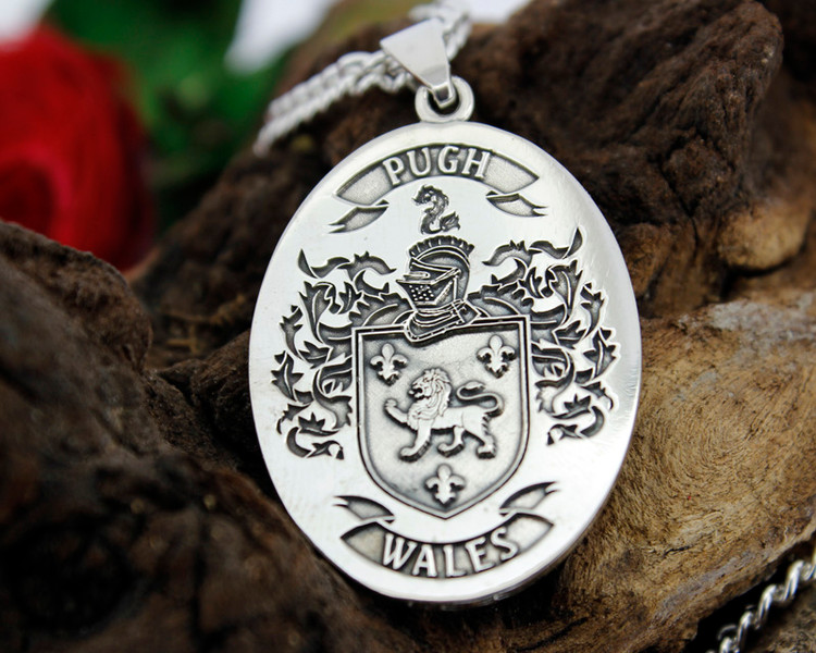 PUGH Engraved Pendant design, also available in Silver Cufflinks, other designs also available, full customised.