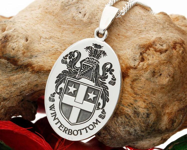 Winterbottom Family Crest Silver Pendant