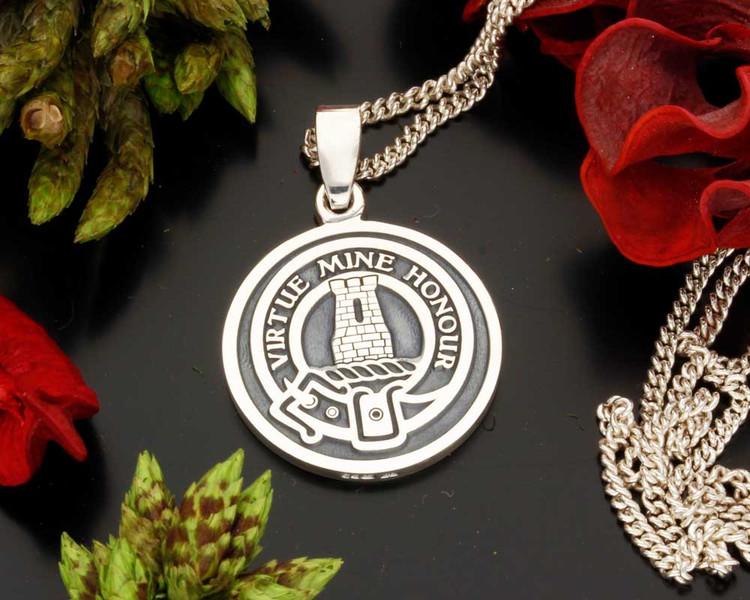MacLean Scottish Clan Silver Pendant
