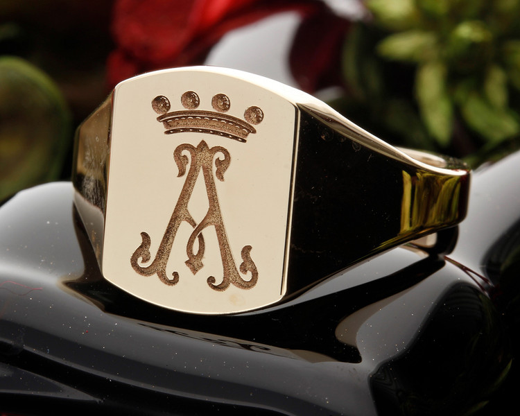 HS9 Signet Ring available in Silver or Gold