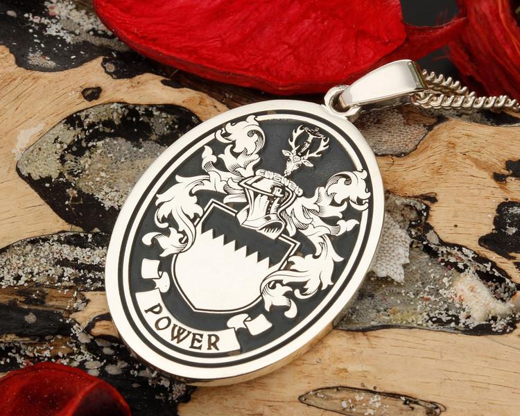 Power Family Crest Pendant, this design suits Oval Pendant.