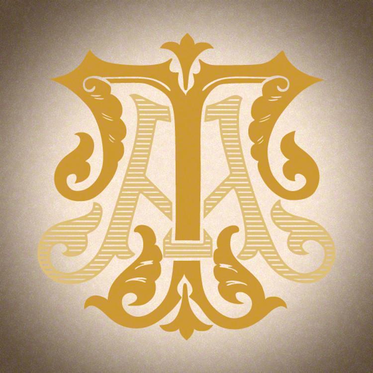 Victorian Monogram AT TA D1 - hand drawn design, graphic design only - download