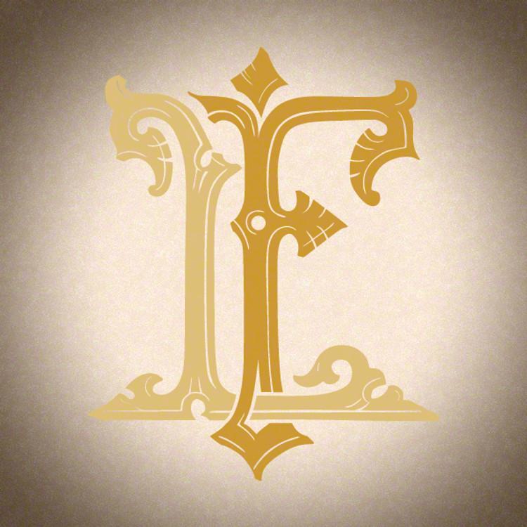 Victorian Monogram LF - hand drawn design, graphic design only - download