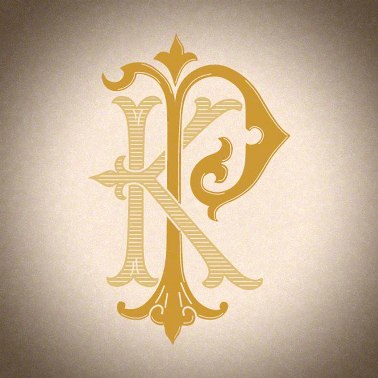 Victorian Monogram KP - hand drawn design, graphic design only - download