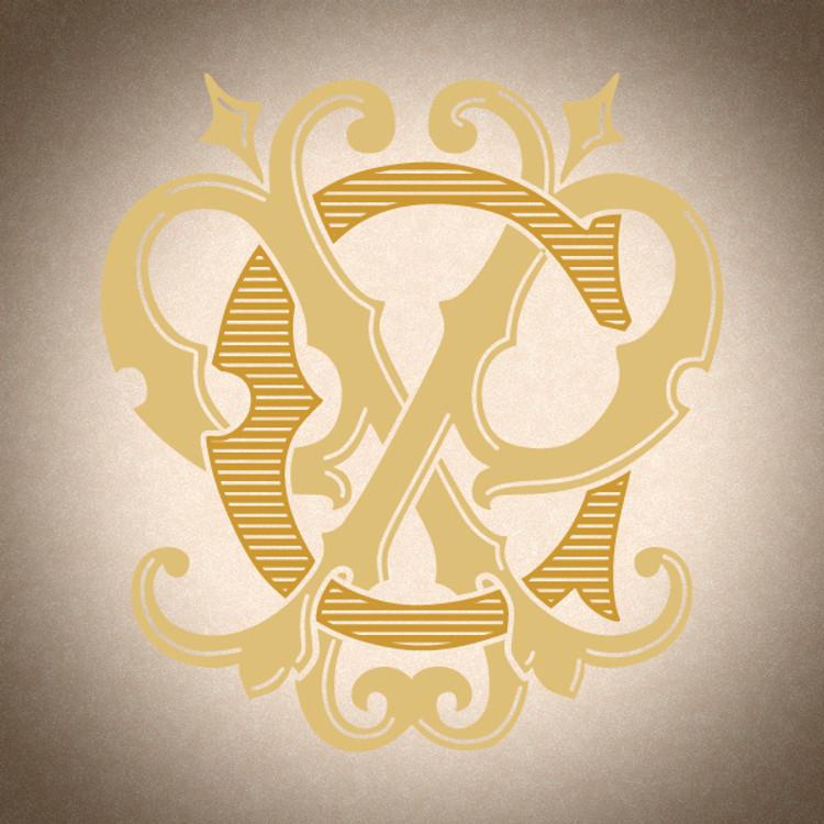 Victorian Monogram CP PC D1 - hand drawn design, graphic design only - download