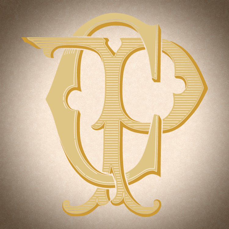 Victorian Monogram CP PC D4 - hand drawn design, graphic design only - download