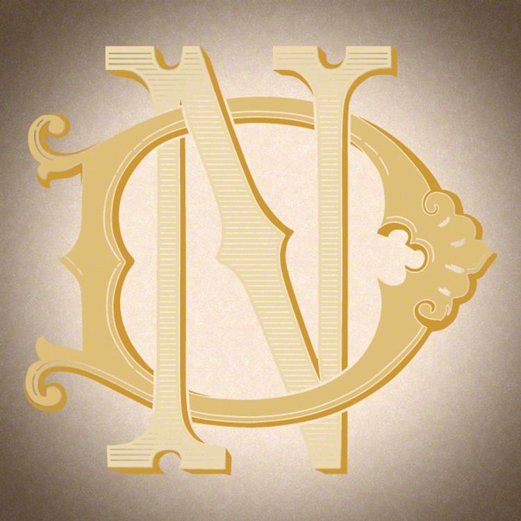 Victorian Monogram DN ND D1 - hand drawn design, graphic design only - download